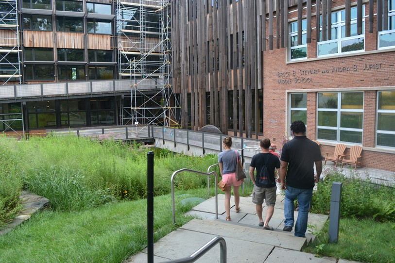 Summer Scholars researching environmental design at Sidwell Friends School in Washington D.C.